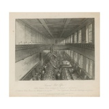 The Letter Carriers Room Arranged for Dispatch of Newspapers Giclee Print by Jacob Van Der Heyden
