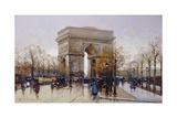 L'Arc De Triomphe, Paris Giclee Print by Eugene Galien-Laloue