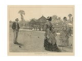 The Last Croquet Game of the Season Giclee Print
