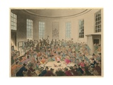 Illustration Depicting a Crowd Watching a Cock Fight Giclee Print by Thomas Rowlandson