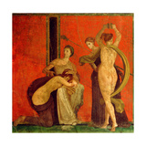 Fresco from the Villa of the Mysteries Giclée-Druck