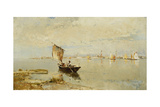 On the Lagoon, 1882 Giclee Print by Pietro Fragiacomo