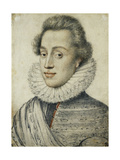Portrait of a Young Man of Quality, Half Length, in a High Ruff Giclee Print by Geoffroy Dumonstier