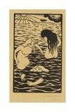 Three Bathers, 1894 Giclée-Druck von Felix Edouard Vallotton