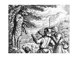 The Wolf in Sheep's Clothing, 1687 Gicléedruk van Francis Barlow