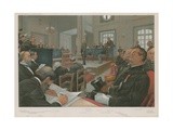 The Trial of Dreyfus Giclee Print by Jean Baptiste Guth