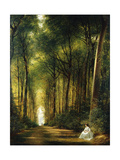 The Beech Avenue, Denbies, 1870 Giclee Print by Richard Redgrave