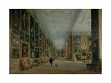 The Long Gallery, Hardwick Giclee Print by David Cox