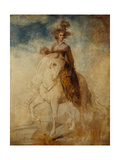 Equestrian Portrait of a Lady, Said to Be Lady Elizabeth Foster Giclee Print by Richard Cosway