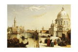 The Grand Canal with Santa Maria Della Salute, Venice Giclee Print by Edward Pritchett