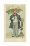 Hh Mehemed Tewfik Pasha, Khedive of Egypt, the Khedive, 20 January 1883, Vanity Fair Cartoon Giclée-Druck von Francois Verheyden