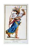 Samba Pango, Ruler of Luango, from 'Recuil Des Estampes, Representant Les Rangs Et Les Dignités,… Giclee Print by Pierre Duflos