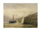 George's Dock, Liverpool, C.1830 Giclee Print by David Cox