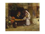 The Market Stall Giclee Print by Rudolphe Ernst