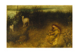 A Girl with Goats, 1875 Giclee Print by Matthijs Maris