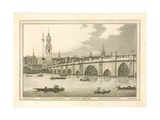 London Bridge, 1795 Giclee Print by Joseph Farington