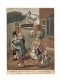 Bagnigge Wells. Mr Deputy Dumpling and Family Enjoying a Summer Afternoon Giclee Print by Robert Dighton