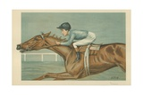 Tod Sloan, an American Jockey, 25 May 1899, Vanity Fair Cartoon Giclee Print by Godfrey Douglas Giles