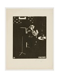 The Cornet, from the Series 'Musical Instruments', 1896-97 Giclee Print by Felix Edouard Vallotton