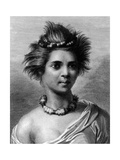A Young Woman of the Sandwich Islands, Illustration from 'A Voyage to the Pacific', Engraved by… Giclee Print by John Webber