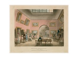 British Institution, Pall Mall Giclee Print by Thomas Rowlandson