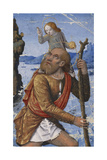Saint Christopher, C. 1490-1500 Giclee Print by Jean Bourdichon