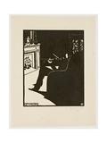 The Violin, from the Series 'Musical Instruments', 1896-97 Giclée-Druck von Felix Edouard Vallotton