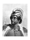 Portrait of Kaneena, a Chief of the Sandwich Islands in the North Pacific Ocean, Engraved by… Giclee Print by John Webber