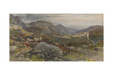 A Welsh Mountain Side, C.1865 Giclee Print by Thomas Collier