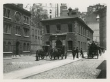 General View of Horse-Drawn Carriages in Scotland Yard Photographic Print