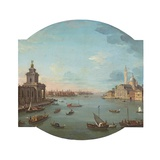 View of San Giorgio Maggiore, Venice, with the Punta Della Dogana in the Foreground Giclée-tryk af Antonio Joli