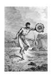 A Man of the Sandwich Islands Dancing, Engraved by Myers, C.1785 Giclee Print by John Webber