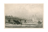 London Bridge Giclee Print by Edward William Cooke