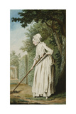 The Duchess of Chaulmes, as a Gardener in an Allee, 1771 Giclee Print by  Carmontelle