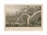 Construction of New London Bridge, 9 November 1827 Giclee Print by Thomas Hosmer Shepherd