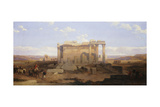 The Ruins of the Smaller Temple at Baalbeck Giclee Print by David Roberts