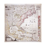 A Map of the British Empire in America with the French Settlements Adjacent Thereto, Engraved by… Giclee Print by Henry Popple