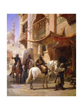 Arab Warriors in a Street Giclee Print by Paul Dominique Philippoteaux