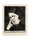 A Schumann, 1893 Giclee Print by Felix Edouard Vallotton