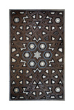 Geometric Pattern from a Wooden Door Giclee Print