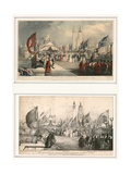 The Ceremony of Opening London Bridge 1 August 1831 Giclee Print by Thomas Allom