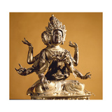 Statue of a Feminine Bodhisattva in the Form of Usnisavijaya, the Goddess of Longevity Giclee Print