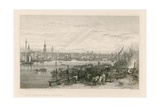 Construction of New London Bridge, 1826 Giclee Print by Sir Augustus Wall Callcott