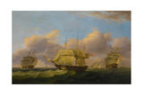 Shipping Off the Eddystone, C.1820 Giclee Print by Thomas Luny