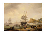 Fishing Scene, Teignmouth Beach and the Ness, 1831 Giclee Print by Thomas Luny