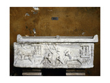 Relief on the Side of a Sarcophagus Showing Horses and Chariots Giclee Print