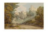 Okehampton Castle, 1794 Giclee Print by Francis Towne