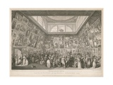 The Exhibition of the Royal Academy 1787 Giclee Print by Johann Heinrich Ramberg