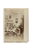 King Duke in Royal Robes with Family, Old Calabar, Nigeria, C.1890 Giclée-Druck