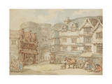 The South Gate, Exeter, C.1810 Giclee Print by Thomas Rowlandson